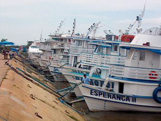 boats on Tapajos River